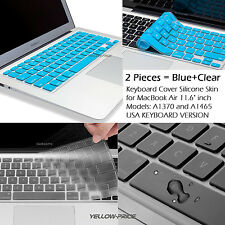 2x Soft Silicone Keyboard Protector Skin Cover For 11'' Macbook Air A1370/ A1465