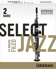 D'Addario 10 PACK Select Jazz Soprano Saxophone Reeds Filed CHOOSE YOUR STRENGTH