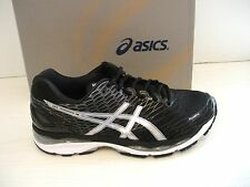ASICS MENS NIMBUS 18 RUNNING SNEAKERS- SHOES- T600N-9093 - BLACK/ SILVER/ CARBON