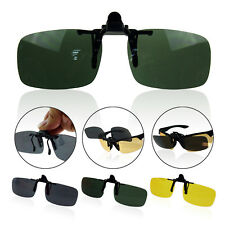 Fashion Polarized Night Vision Driving Clip-On Flip-Up Lens Glasses Sunglasses