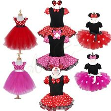 Halloween Girls Baby Wedding Minnie Mouse Outfit Party Fancy Tutu Dress Costume