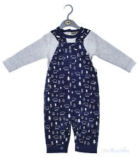 Baby Boys Top & Lined, Cord Dungaree Set (0-12 Months)