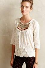 NEW Anthropologie Moulinette Soeurs Jeweled Peasant Blouse Size 10P