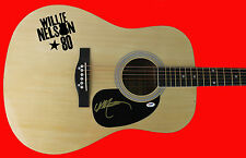 Willie Nelson Authentic Signed Acoustic Guitar PSA/DNA #AB83822