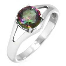 Mystic Topaz Gemstone Latest Jewelry 925 Sterling Silver Ring Size O mm29677
