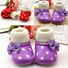 1 Pair Girl Soft Sole Boots Toddler Newborn Shoes Baby Charm Infant Cute Warm