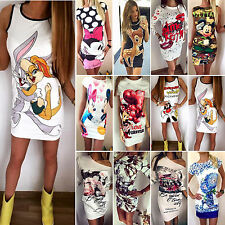 Womens Bandage Bodycon Print Sexy Party Evening Cocktail Pencil Short Mini Dress