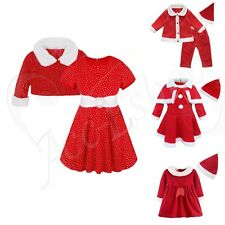 LITTLE GIRLS CHRISTMAS HOLIDAY DRESS LEGGINGS OUTFIT CHILDREN CLOTHES WEDDINGS