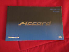 2015 HONDA ACCORD NAVIGATION SYSTEM OWNERS MANUAL SUPPLEMENT BOOKLET