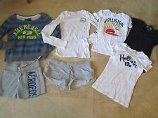 Lot, 7 juniors size XS tops, t-shirts,shorts Hollister, Aeropostale