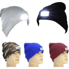 5 Color 5LED Lighted Cap  Winter Warm Beanie Hunting Camping Running Fishing Hat