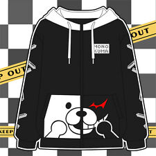 Newest Dangan-Ronpa Mono Kuma Black/White Bear Coat Danganronpa Cosplay Hoodie