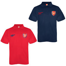 Arsenal Football Club Official Soccer Gift Boys Crest Polo Shirt Red