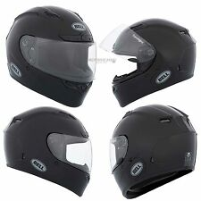 Motorcycle Bell Helmet Qualifier DLX Solid Black Gloss Adult XLarge Full Face