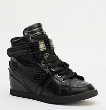 Ladies Womens Wedge Trainers Mid Heel Platform Sneakers High Top Hi Ankle Boots