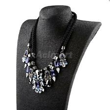 Handmade Weave Crystal Water Drop Statement Jewelry Necklace