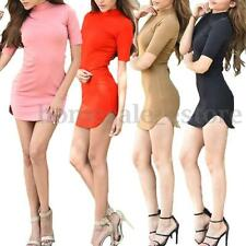 Sexy Wrapped Mini Dress Party Bodycon Sun Dress Evening Clubwear Party Long Tops