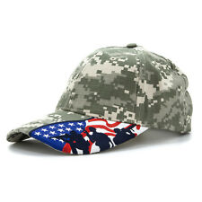 Embroidered US Flag  Fighting Soldier Silhouette, Adjustable Baseball Cap Hat