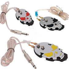 Pro Stainless Steel Tattoo Foot Pedal Power Supply Switch Control Skull 2 Colors