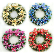 1 Pc Wreath Pine Xmas Christmas Tree Holiday Door Winter Decorations Ornaments
