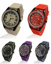 Urban UNISEX Silicone Rubber Strap Army Style Japanese Quartz Analog Wristwatch