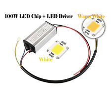 100W Warm/Cool White High Power SMD Led Chip Flood Light Bead Bright Integrated