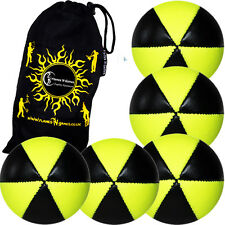 ASTRIX Pro Thud UV Juggling Balls - Set of 5 juggling balls + Bag (YELLOW)