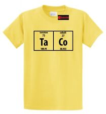 Taco Periodic Table Funny T Shirt Science Nerd Food Tacos College Chemistry Tee