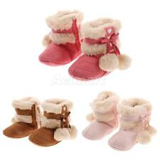 Hot Sale Newborn Toddler Baby Snow Booties Bowknot Boots Plush Ball Crib Shoes