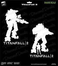 Titanfall 2 Scorch Weaponology (2-Pack) PS4 xBox Gamer Decal Sticker Car Window