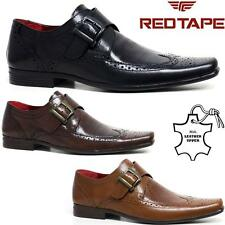 Mens Red Tape Leather Shoes Smart Office Wedding Work Formal Party Brogue Shoes