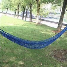 Swing Hammock Hanging  Outdoor Mesh Portable Travel Camping Nylon Sleeping Bed