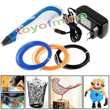 3D Printer Printing Pen Drawing Stereoscopic Arts Crafts + 15 color ABS Filament
