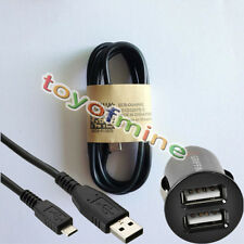 2-USB Car Charging+Universal Micro USB 5Pin Power Cable for Tablet MobilePhone