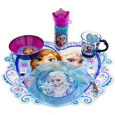 Disney Store Frozen Elsa Plate Cup Tumbler Water Bottle Silverware Spoon Fork