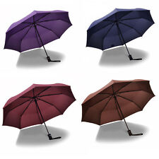 3 Folding Durable Automatic Umbrella Windproof Rainproof Anti-UV Pongee Umbrella