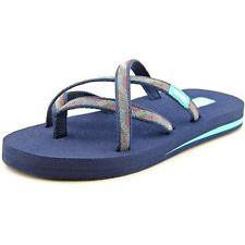 Teva Mush Women  Open Toe Canvas Blue Thong Sandal NWOB