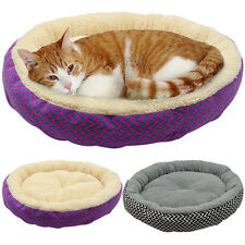 New Round Plush Pet Dog Puppy Cat Soft Warm Cozy Bed House Nest Mat Pad Cushion
