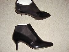 LADIES BLACK PATENT POINTED TOE ANKLE BOOTS  FROM MARKS AND SPENCER BNWT