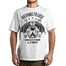 Famous Stars & Straps Flying Hourglass Wings Illuminati Skate Punk Urban T Shirt