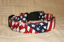 Waving Flags Patriotic Adjustable Dog & Cat Collars & Martingales & Leashes