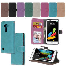Luxury Flip Card Holder Wallet Retro Case PU Leather Cover Skin for LG Series