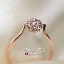 18CT Rose Gold Plated Fashion Ball Ring Made With SWAROVSKI Crystals