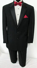 41R Black Perry Ellis Two Button Tuxedo With Pants Wedding Prom Cruise Mason 41R