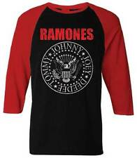 The Ramones Seal Classic Punk Rock Music Band Baseball Jersey Mens Raglan Shirt