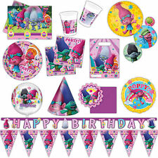 Trolls Movie Children's Birthday Party Supplies Plates Napkins Tableware Listing