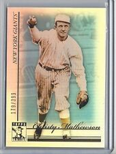 CHRISTY MATHEWSON 2010 Topps Tribute BLUE REFRACTOR SP /399 Giants #15