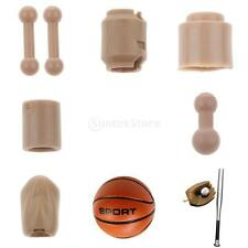 "1:6 Scale Head Feet Connetors Body Pieces Parts for 12"" Hot Toys Action Figures"