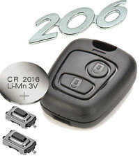 fits Peugeot 206 307 406 2 Button Remote key FOB Repair Refurbishment Kit