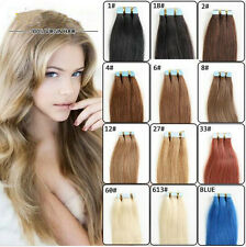 Hot 20 pcs Tape In Skin Weft 100% Remy Human Hair Extensions Women Fashion Style